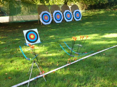 Archery GB Arrows Kit all set up and ready to go.